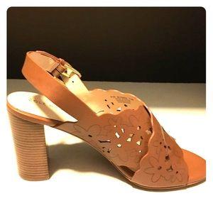Tan 7.5 Cole Haan sling back sandals